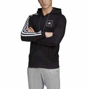 ADIDAS DŽEMPERIS SU GOBTUVU 3-STRIPES TAPE FZ HOODIE